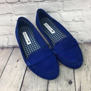 American Eagle blue loafers flats size 8.5